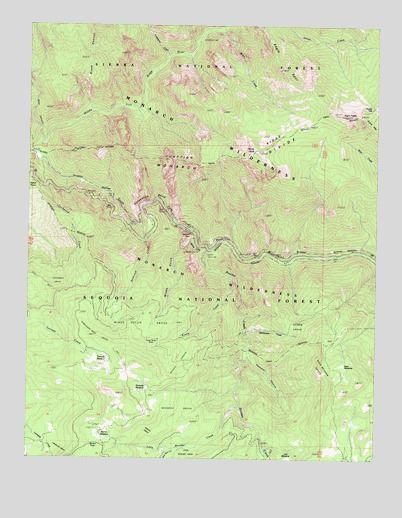 Wren Peak, CA USGS Topographic Map
