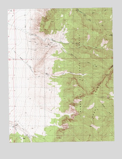 Troy Canyon, NV USGS Topographic Map