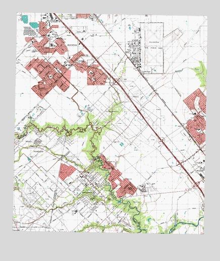 Friendswood TX Topographic Map TopoQuest - Texas topographic map