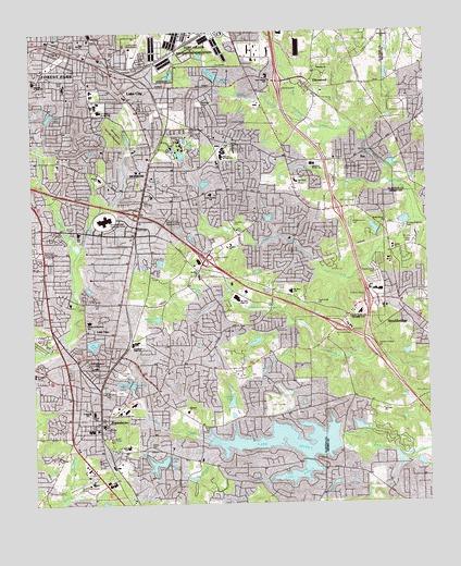 Jonesboro GA Topographic Map