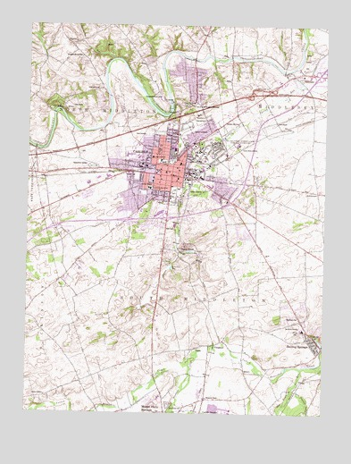 Carlisle PA Topographic Map TopoQuest - Topographical map of pa