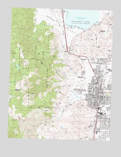 Carson City, NV Topographic Map - TopoQuest