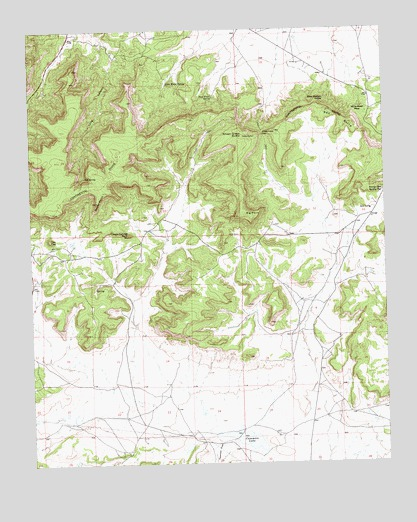 Casamero Lake, NM USGS Topographic Map