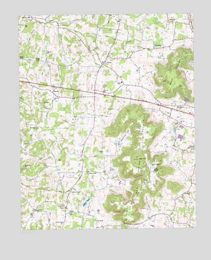 Cassville, TN USGS Topographic Map