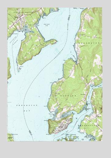 Castine Me Topographic Map Topoquest