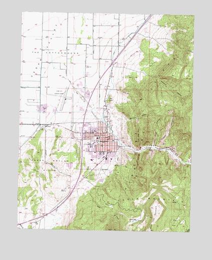 Cedar City, UT Topographic Map - TopoQuest on