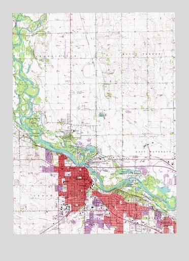 Cedar Falls Ia Topographic Map Topoquest