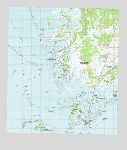 Topographic Map Of Florida.Cedar Key Fl Topographic Map Topoquest