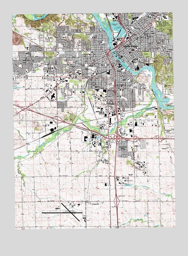 Cedar Rapids South, IA USGS Topographic Map