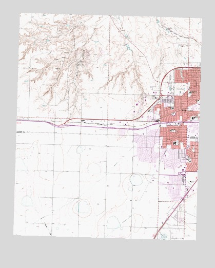 Amarillo West TX Topographic Map TopoQuest - Map of amarillo texas