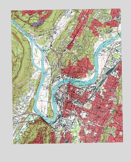 Chattanooga, TN USGS Topographic Map