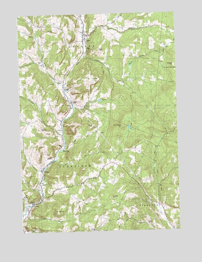 Chelsea, VT USGS Topographic Map