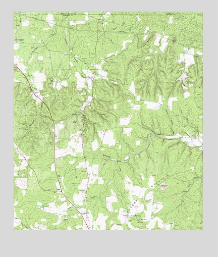 Cherry Mountain, TX USGS Topographic Map