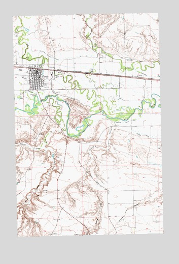 Chinook, MT USGS Topographic Map