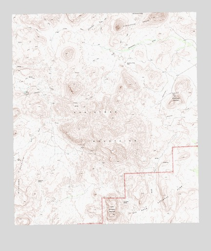 Christmas Mountains, TX USGS Topographic Map