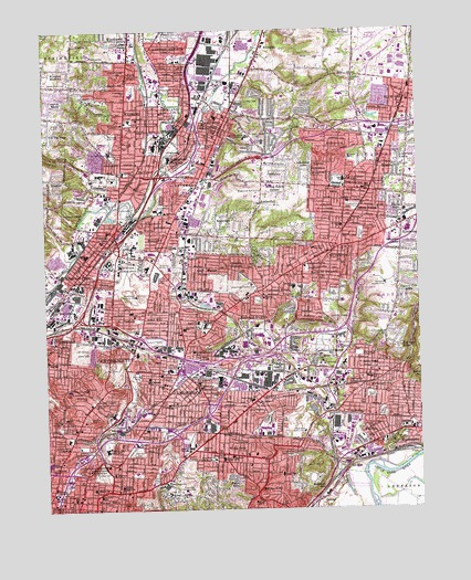 Cincinnati East Oh Topographic Map Topoquest