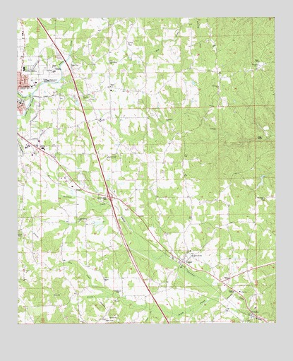 Clanton East, AL USGS Topographic Map