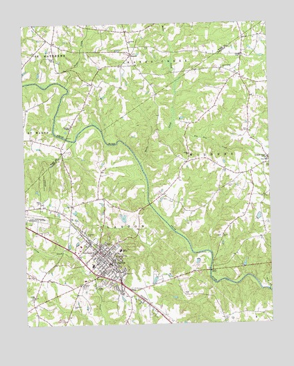 Clayton, NC Topographic Map - TopoQuest on