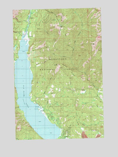 Cle Elum Lake Wa Topographic Map Topoquest