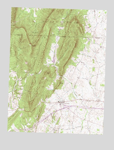 Clear Spring, MD Topographic Map - TopoQuest