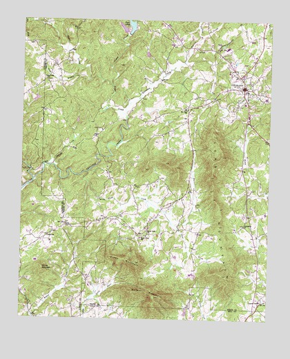 Cleveland, GA Topographic Map - TopoQuest on