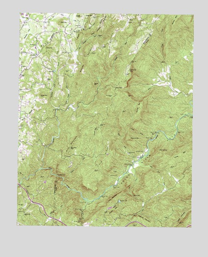 Cliffield Mountain, NC USGS Topographic Map