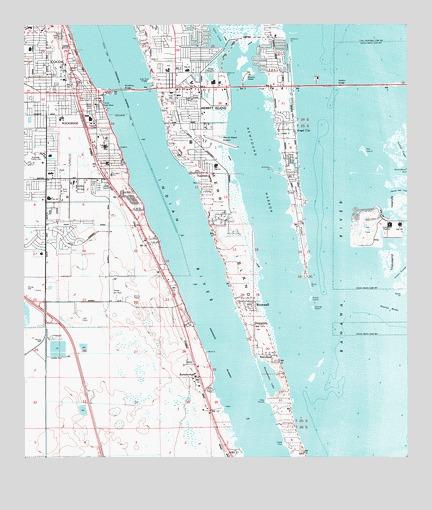 Cocoa Beach Florida Map.Cocoa Fl Topographic Map Topoquest