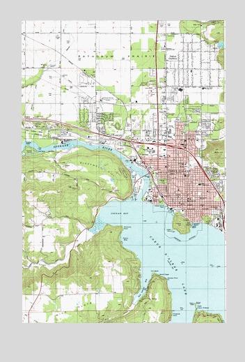 Coeur D\'Alene, ID Topographic Map - TopoQuest