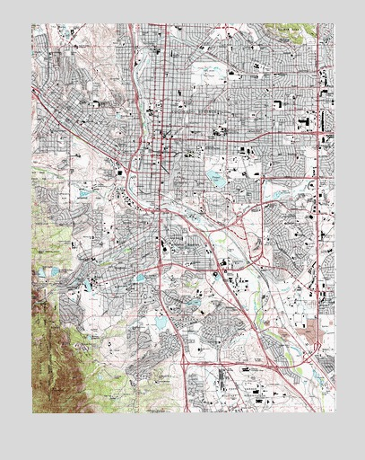 Colorado Springs, CO USGS Topographic Map