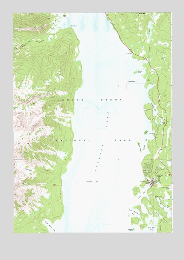 Colter Bay, WY USGS Topographic Map