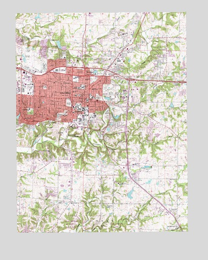 Columbia Mo Topographic Map Topoquest