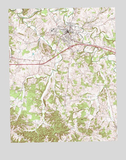 Columbia KY Topographic Map  TopoQuest