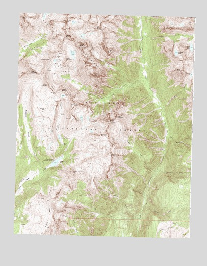 Columbine Pass, CO USGS Topographic Map