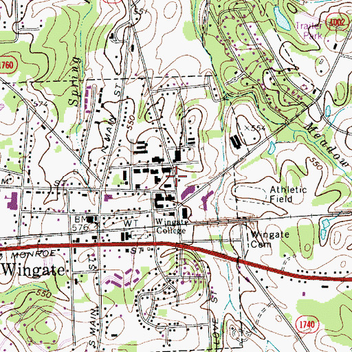 Topographic Map of Laney Hall, NC