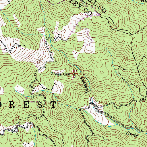 Topographic Map of Gragg Cemetery, NC