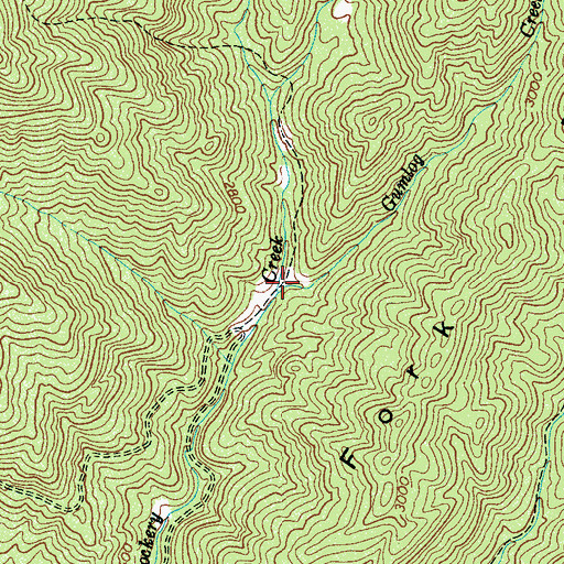Topographic Map of Gumlog Creek, NC