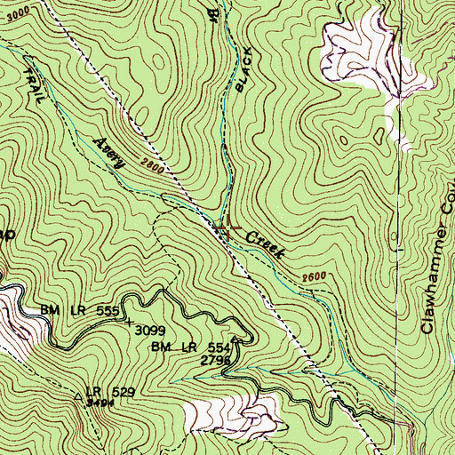 Topographic Map of Henry Branch, NC