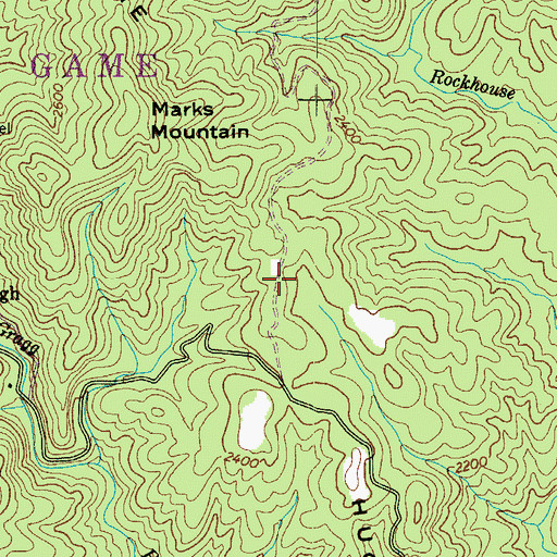 Topographic Map of Hughes Ridge, NC