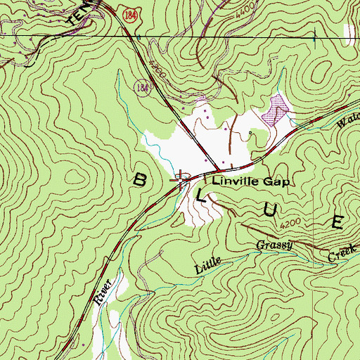 Topographic Map of Linville Gap, NC