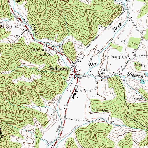 Topographic Map of Spring Creek, NC