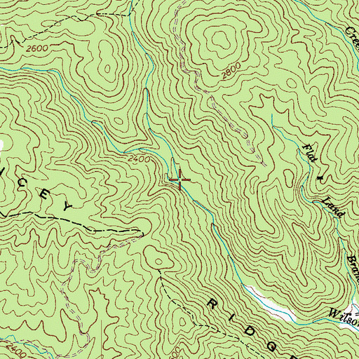 Topographic Map of Stack Rock Creek, NC