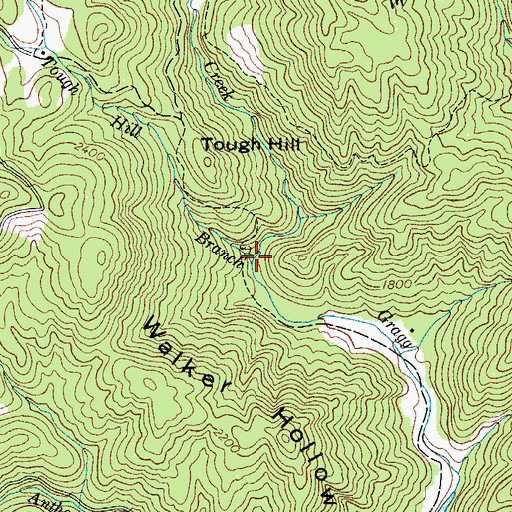Topographic Map of Tough Hill Branch, NC