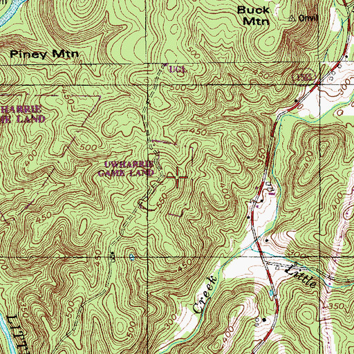 Topographic Map Game.Uwharrie Game Land Nc