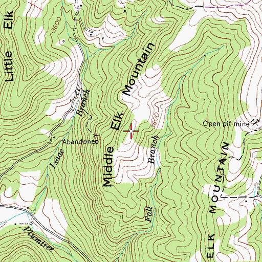 Topographic Map of Middle Elk Mountain, NC