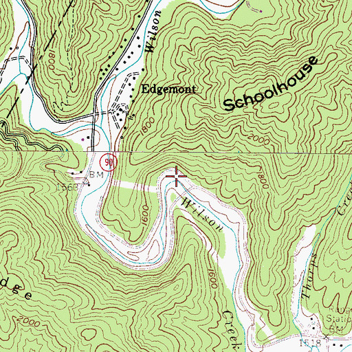 Topographic Map of Mortimer Recreation Area, NC