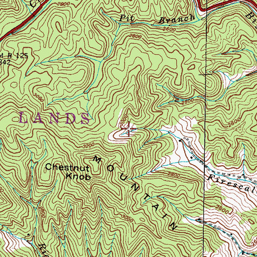Topographic Map of Township of Ramseytown, NC