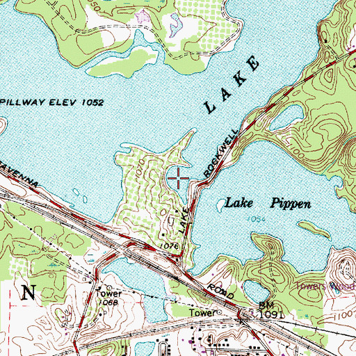 Topographic Map of Lake Rockwell, OH