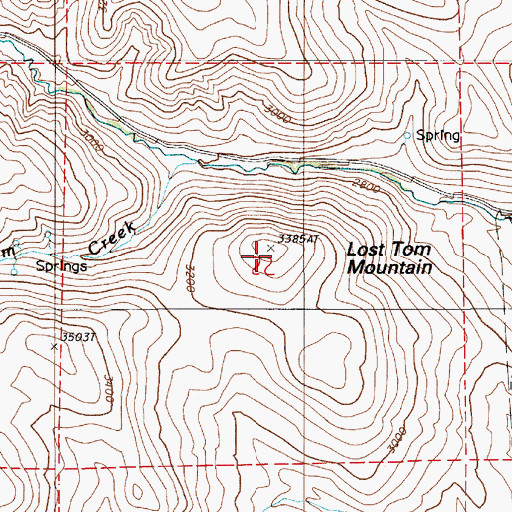 Topographic Map of Lost Tom Mountain, OR