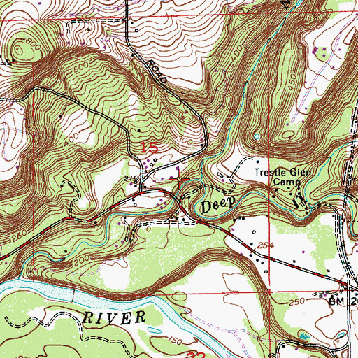 Topographic Map of Noyer Creek, OR
