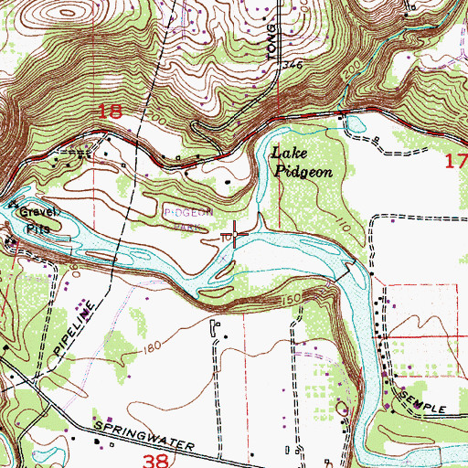 Topographic Map of Richardson Creek, OR